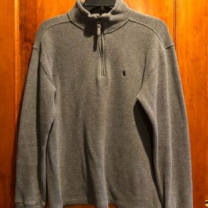 Polo gray quarter zip sweater